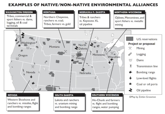 Alliances between rural communities and Native tribes have sprung up across the West and Midwest to protect local lands and waters. (Zolt�n Grossman)