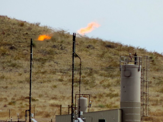 A new bill would limit flaring of methane gas at wells such as this one in the Pawnee National Grasslands north of Denver. (Wild Earth Guardians)