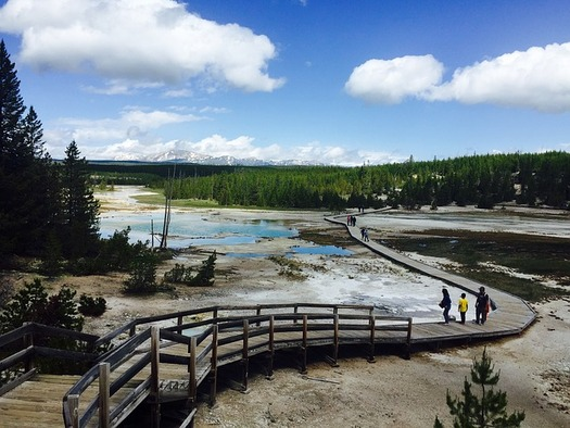 Yellowstone National Park needs more than $563 million in backlogged maintenance and repairs, including segments of boardwalks near geothermal sites. (Pixabay)