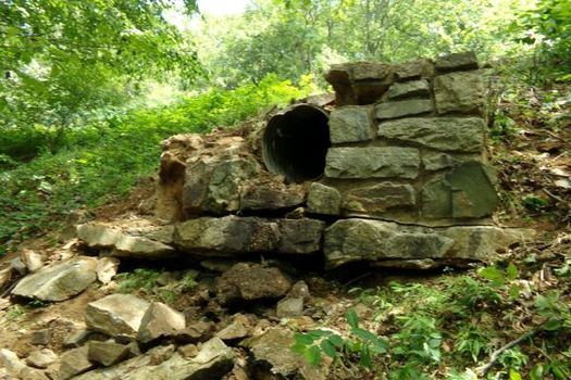 One of Shenandoah National Park's deferred maintenance projects is repairing the rock guardwall along Skyline Drive, which has deteriorated from years of weather exposure. (National Park Service)