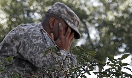 "Overcoming the stigma is one of the first steps for seeking help for Post-Traumatic Stress, and dropping the term ""Disorder"" from the name is seen by some as a start. (U.S. Army)"
