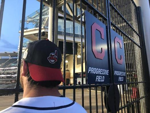 The Cleveland Indians organization dropped the use of the Chief Wahoo mascot, but still can profit from merchandise sold outside of Progressive Field. (Nick Pedone)