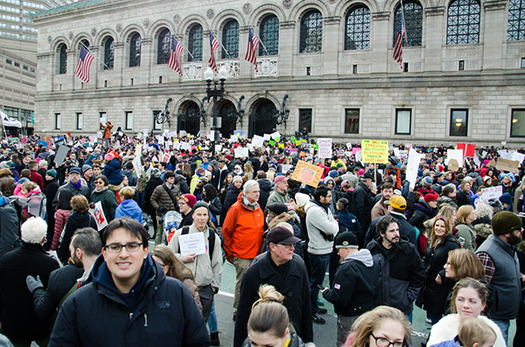 """""""Congress is refusing to stop the president and his policies,"""" says Elizabeth Cronise McLaughlin, attorney and a Lights for Liberty organizer. """"We cannot allow these atrocities to be perpetrated in our name."""" (Boss Tweed/Flickr)"""
