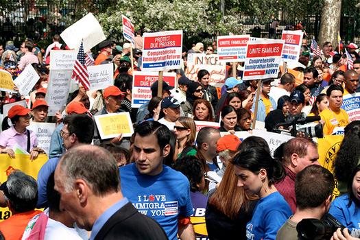 Trump Immigration Policies Spark Vigils in CT Worldwide / Public