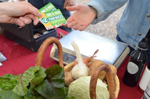 The Double Up Food Bucks program is available in roughly half of Oregon's farmers markets. (Farmers Market Fund)