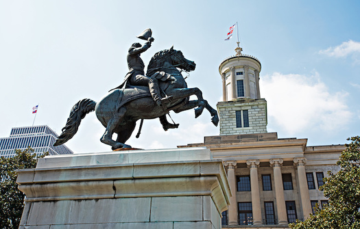 Tennessee's state Capitol building in Nashville, where a bust of Confederate Gen. Nathan Bedford Forrest is on display. (Adobe Stock)