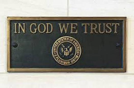 """South Dakota's new state law requiring public schools to display the motto, """"In God We Trust"""" is part of initiative by the Congressional Prayer Caucus Foundation called Project Blitz. (wvxu.org)"""
