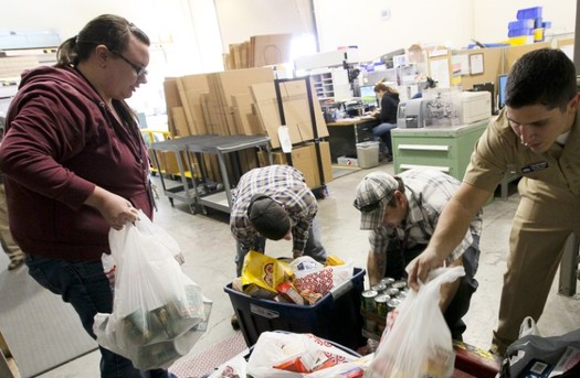 Much of the food bought by the United States government from farmers to reduce the impact of trade disputes ends up going to food banks. (Greg Vojtko/U.S. Navy/Wikipedia)