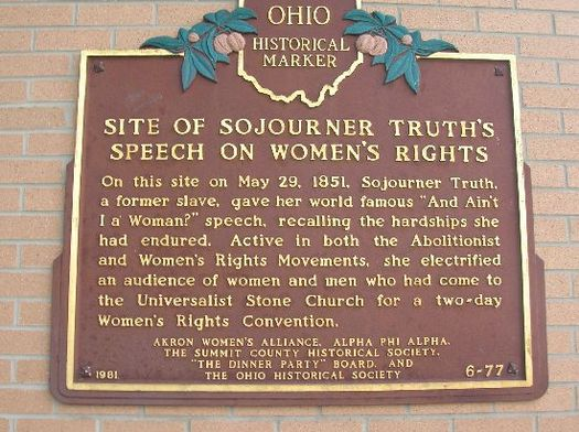 Sojourner Truth was in Ohio when she delivered one of the most important women's rights speeches in American history. (Ohio History Connection)