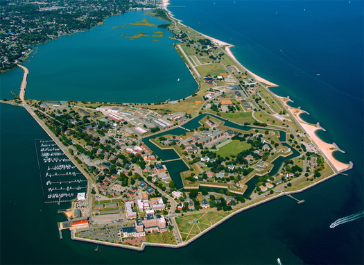 Fort Monroe in Hampton, Va., is the site where the first ship bearing enslaved Africans landed in the English colonies in August 1619. (National Park Service)