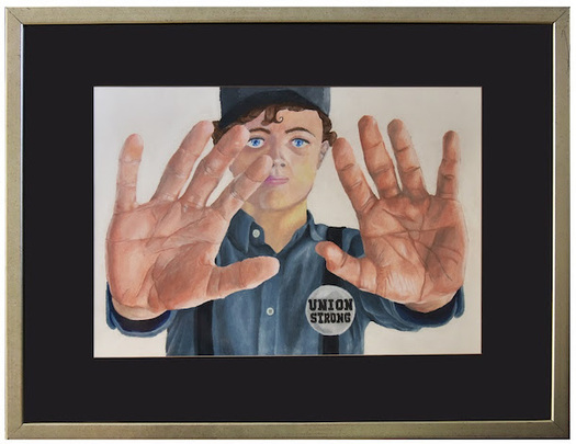 """""""Hands"""" by Caleb Roos from Pottsville Area High School is this year's second-place winner. (PSEA)"""