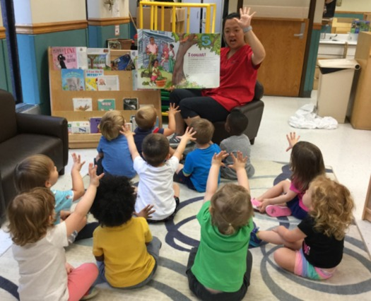 A preschool classroom in Kentucky learns about Constitution Day. (Kentucky Youth Advocates)