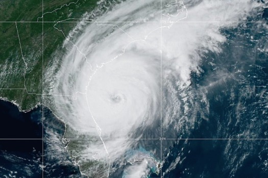 While another hurricane threatens the East Coast, a new poll reveals most registered voters believe climate change is an emergency. (noaa.gov)