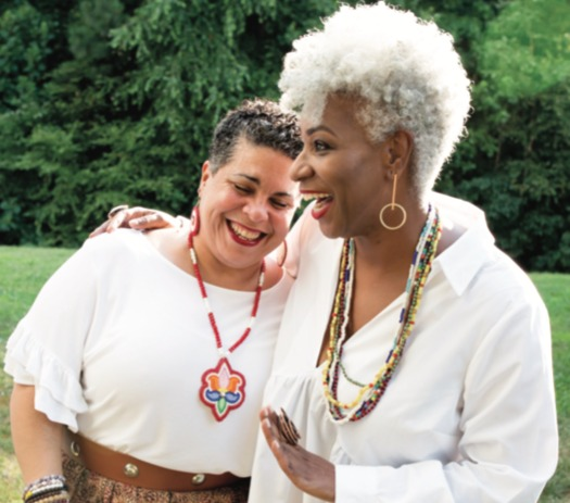 Durham, N.C., resident Omisade Burney-Scott (right) with fellow death doula Vivette Jefferies-Logan. (Madeline Gray/YES! Media)