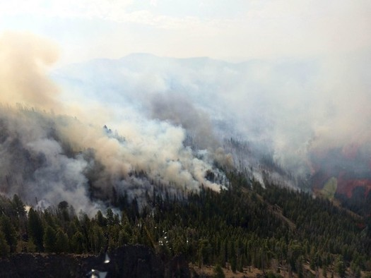 Climate activists say the warming climate is causing an increased threat from wildfires in Idaho. (U.S. Forest Service/Flickr)