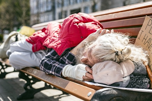 Seniors, a growing part of Arizona's homeless population, are stressing the resources of many social-service agencies. (Iakobchuk/AdobeStock)