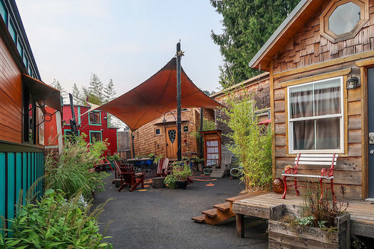 The Oregon Legislature passed a bill that requires cities to allow mixed housing types, such as tiny homes. (Mark McClure/Sightline Institute)