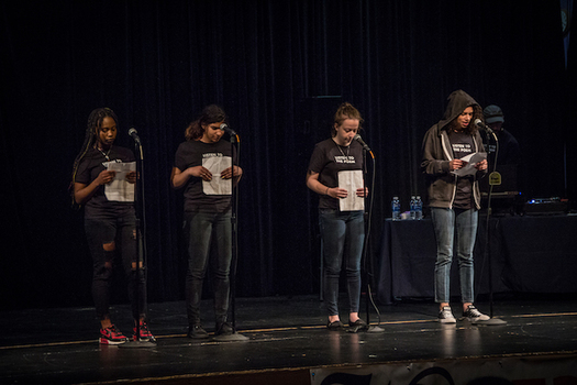 Tacoma's after-school program Write 253 helps students prepare for the team slam poetry competition Louder Than a Bomb. (Johnny Schuler)
