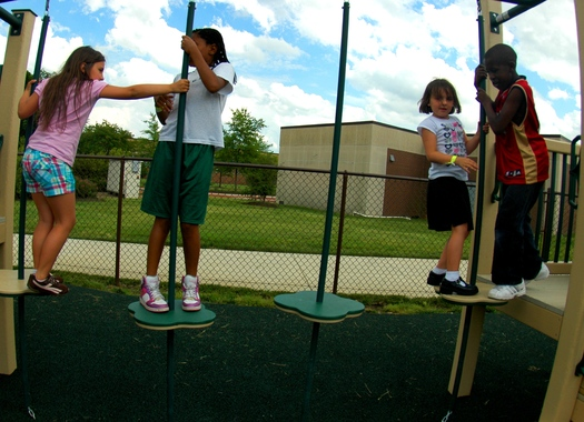 A new Annie E. Casey Foundation report says safe places to play, quality schools and parents' access to job opportunities are key needs for children in high poverty neighborhoods. (USAF)