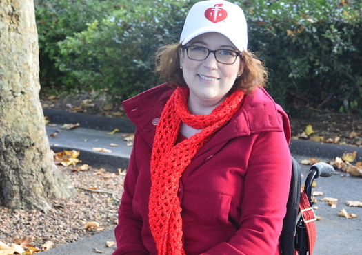 Nine years after a stroke that left her unable to walk, Courtney Wilkins still is making progress. (American Heart Association)