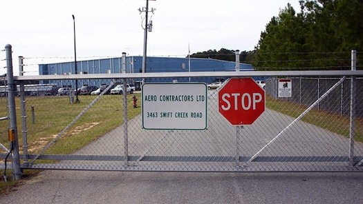Johnston (County) Regional Airport, where planes involved in a CIA secret rendition program took off between 2001 and 2006. (North Carolina Stop Torture Now)