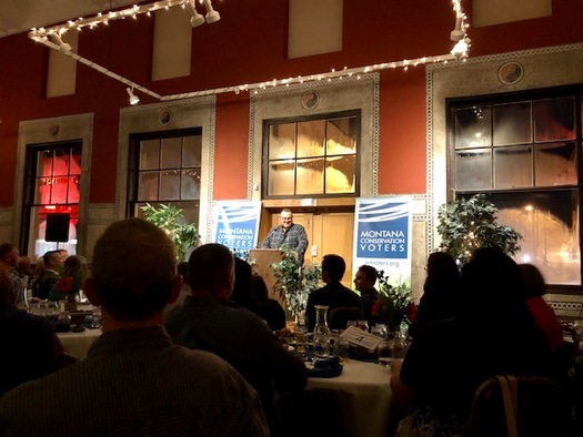 Sen. Jon Tester, D-Mont., gave the keynote speech at Montana Conservation Voters' 20th anniversary celebration. (Montana Conservation Voters)