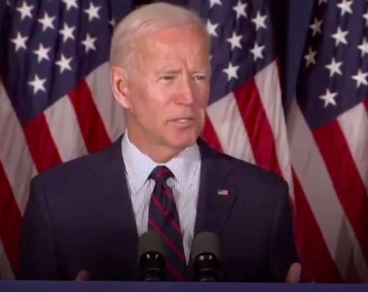 For the first time, former Vice President and Democratic Party presidential candidate Joe Biden says President Donald Trump should be impeached. Biden made these remarks at a town hall meeting Wednesday in Rochester, N.H. (Biden's Twitter page)