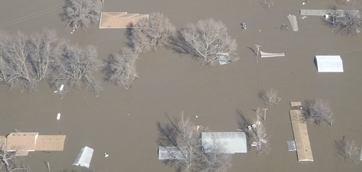 Severe flooding in March caused levees to fail along the Missouri River in Iowa, resulting in overall damages of $2 billion. (noaa.edu)