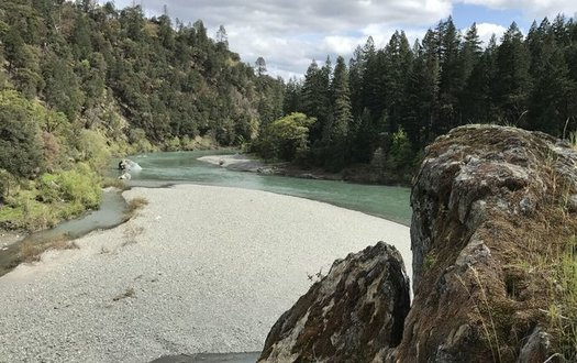 The South Fork of the Trinity River is one of the places that would get extra protections from a public lands bill now before Congress. (Jeff Morris/The Pew Charitable Trusts)