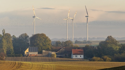 Studies have shown positive public health and climate impacts from wind farm development. (Mike Mareen/Adobe Stock)