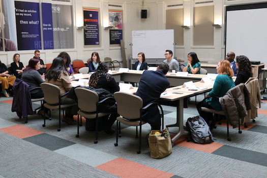 Rep. Pramila Jayapal, D-Wash., joined Washington state groups at a roundtable discussion this week to support a tax credit measure for working families. (SEIU 775)