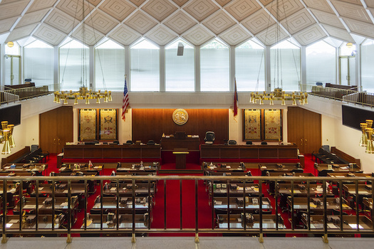The North Carolina state House of Representatives chamber is shown in a recent photo. Last month a state court said congressional maps drawn by North Carolina Republicans violated the state constitution. (Adobe stock)