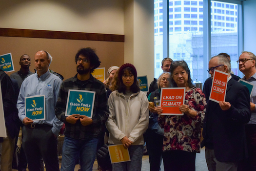 Washingtonians at a public meeting on a Puget Sound clean-fuel standard noted the region's leadership tackling climate change. (Washington Environmental Council)