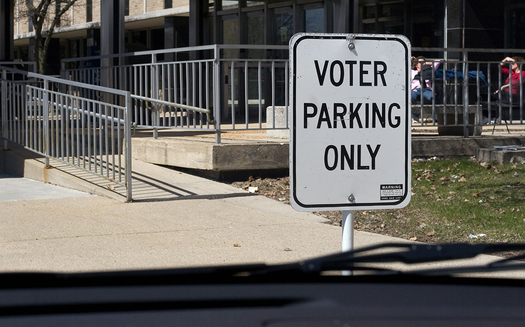 A report by Rutgers University this year said voter turnout for people with disabilities was up more than 8% in the 2018 midterm elections. (Sara/Flickr)
