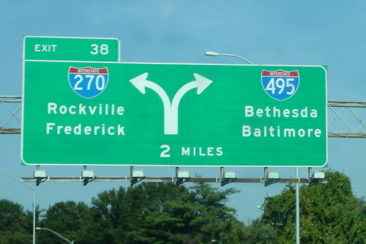 Critics say Maryland's plan to add toll lanes to busy D.C.-area highways will create overpriced tolls that are hardships for everyday commuters. (Wikipedia)