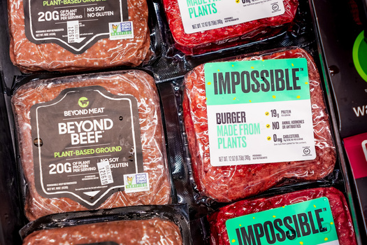 The Impossible Burger and Beyond Beef are considered two of the more popular alternative meat products. (Adobe Stock)