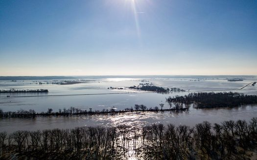 Missouri River flooding in 2019 brought devastation to Iowa and neighboring states. (iihr.uiowa.edu)