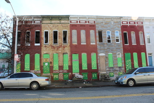 Rising temperatures from climate change tend to affect a city's most vulnerable neighborhoods, according to a new report. (Maryland Dept. of Housing & Community Development)