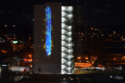 """The exhibit """"Particle Falls"""" will be displayed Feb. 28-March 28 in Charlotte. (Clean Air Carolina)"""