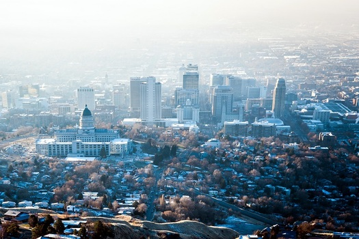 The Salt Lake Valley experiences a choking air inversion every winter due to tailpipe emissions and other pollutants.  (Kryhin/AdobeStock)
