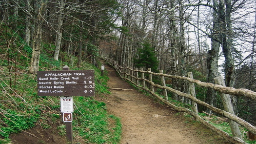 Lawyers opposing the Atlantic Coast Pipeline crossing the Appalachian Trail say it will cut a path the width of a four-lane highway across the scenic route. (Wikimedia Commons)