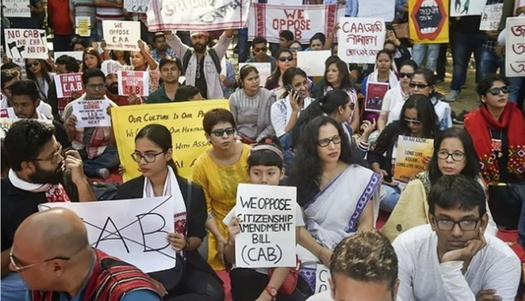 Students Against Hindutva are holding protests across the United States to support Muslims facing harsh treatment in India. (Students Against Hindutva)