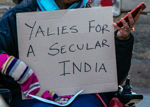 The group Students Against Hindutva is holding protests across the United States to support Muslims facing harsh treatment in India. (Students Against Hindutva)