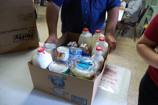 Schools and food pantries across Colorado are making boxes of food available to families in need during the COVID-19 crisis. (Billy Brown/Flickr)