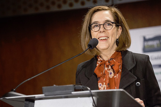 Gov. Kate Brown kept her promise to enact sweeping climate action if it didn't come from the Oregon Legislature this year. (Oregon Dept. of Transportation/Flickr)