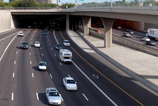 Interstate 10 near downtown Phoenix, also known as the Papago Freeway, is the heaviest-traveled section of road in the state. (Flickr)