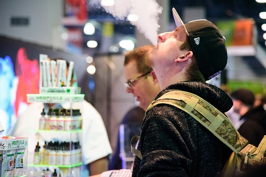 Some research shows aerosols from vaping seem to harm pulmonary cells, making those who vape even more susceptible to contracting COVID-19 than smokers. (sarahjohnson1/Pixabay)