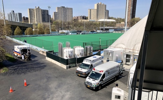 The Ryan Larkin New York-Presbyterian Field Hospital can treat more than 216 patients. (Frederick Wellman)