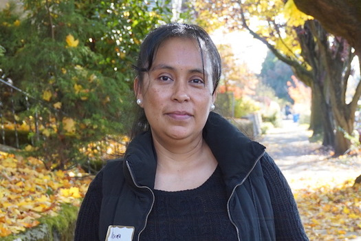 Norma Martinez, a janitor in Portland, has been able to keep her health insurance because she is employed during the pandemic. (SEIU Local 49)