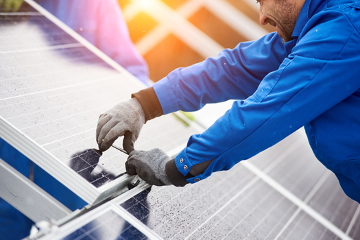 Some of the new solar farms in Virginia are being constructed by a company that the United Nations says has exploited Palestinian natural resources overseas. (Adobe Stock)
